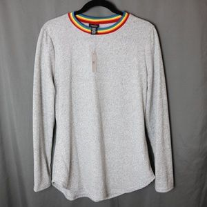 NWT Rainbow Collar Top/Sweater